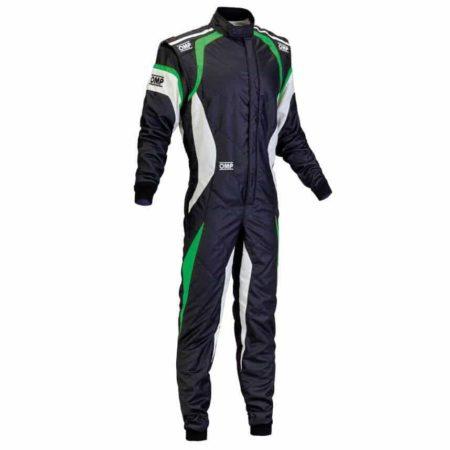 OMP One Evo Race Suit in Black & Green