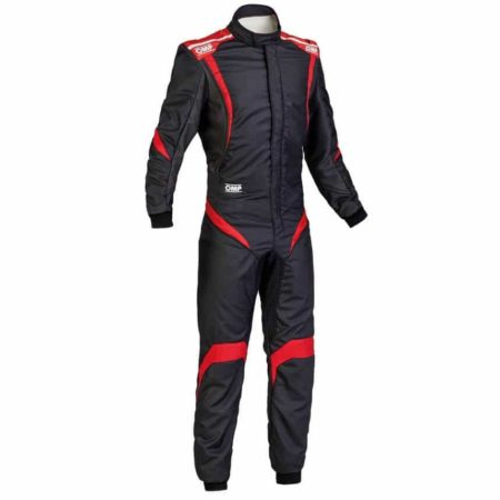 OMP One S1 Race Suit in Black & Red