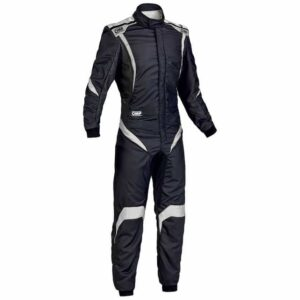 OMP One S1 Race Suit in Black & White thumbnail