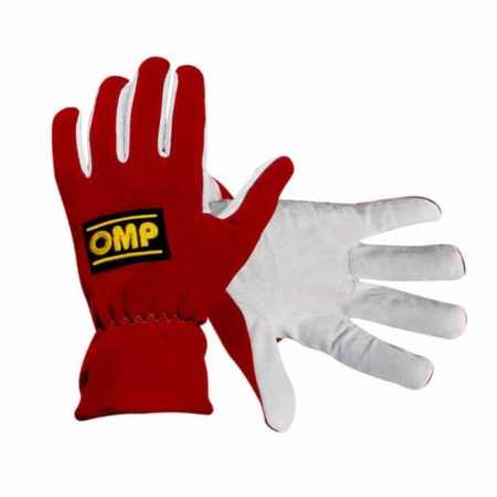 OMP New Rally Race Gloves in Red