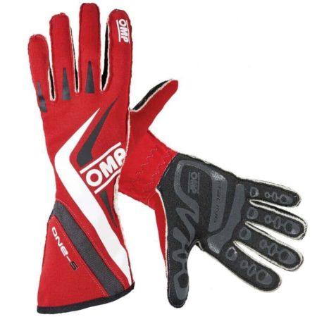 OMP One S Race Gloves in Red