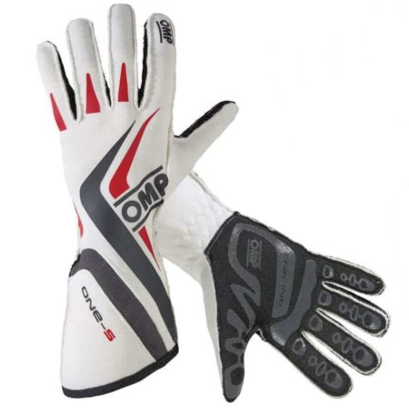 OMP One S Race Gloves in White