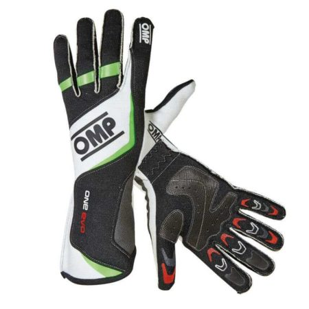 OMP One Evo Race Gloves in Black & Green