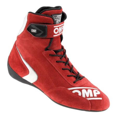OMP First High Race Boots in Red
