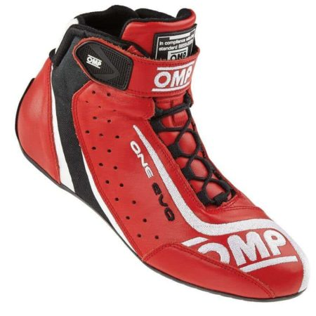 OMP One Evo Race Boots in Red