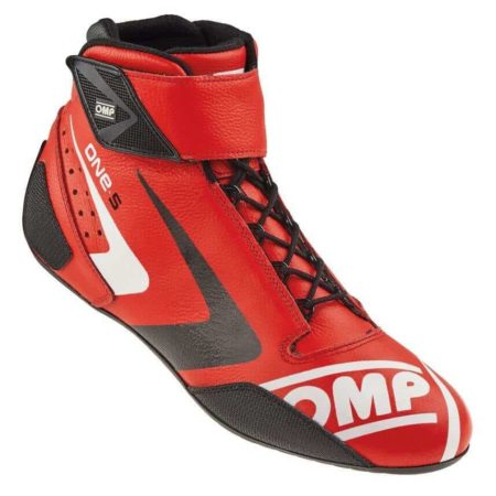 OMP One S Race Boots in Red