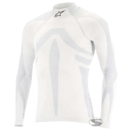 Alpinestars ZX Evo Fireproof Top in White / Grey