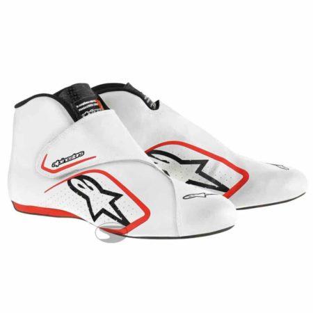 Alpinestars Supermono Race Boots in White & Red