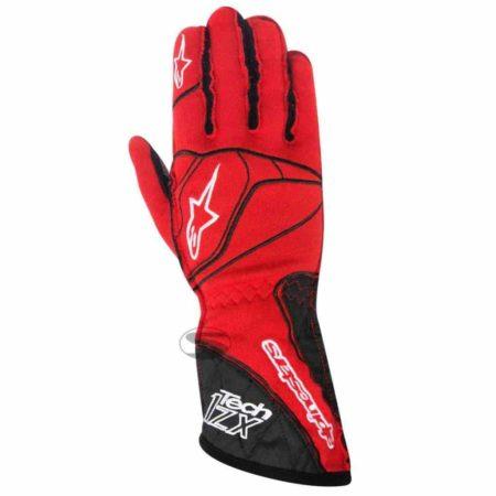 Alpinestars Tech 1-ZX Racing Gloves in Red