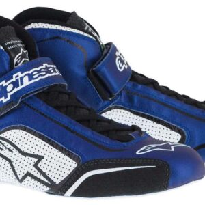 Alpinestars Tech 1-T Race Boots in Blue & White thumbnail