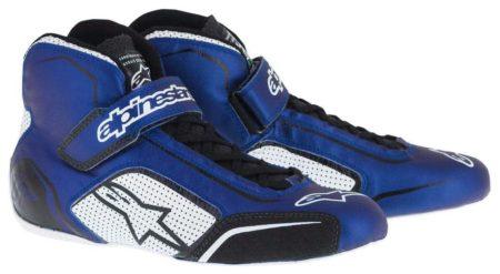 Alpinestars Tech 1-T Race Boots in Blue & White