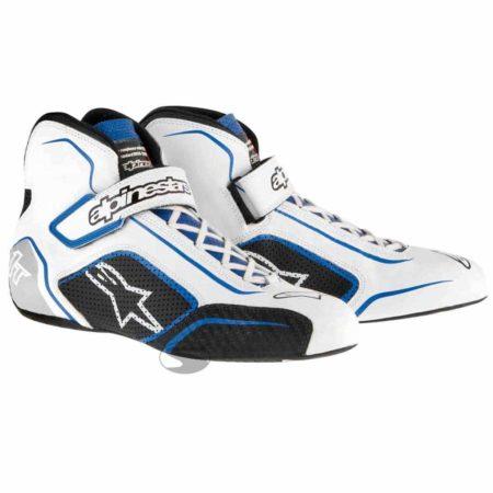 Alpinestars Tech 1-T Race Boots in White & Blue