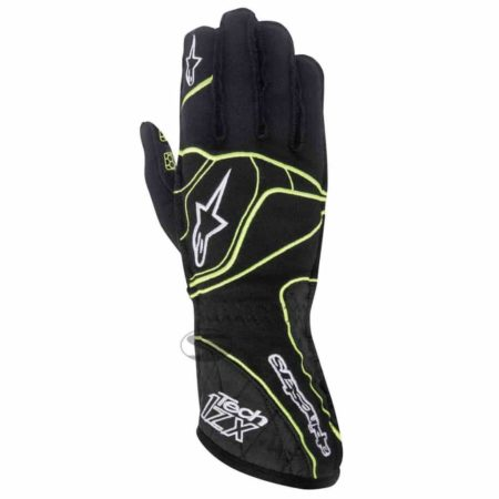 Alpinestars Tech 1-ZX Racing Gloves in Black & Fluo Yellow