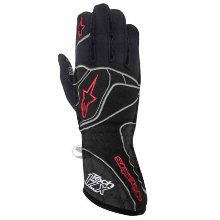 Alpinestars Tech 1-ZX Racing Gloves in Black & Red