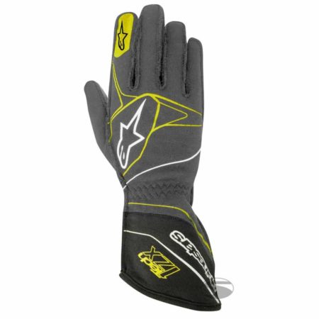 Alpinestars Tech 1-ZX Racing Gloves 2017 in Grey & Yellow