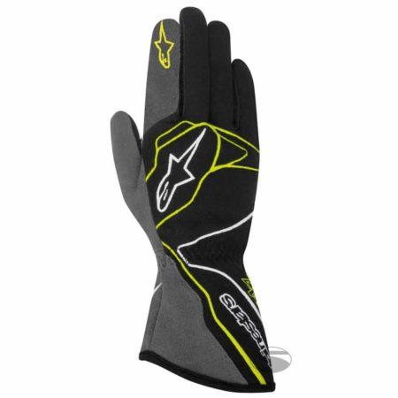 Alpinestars Tech 1-Z Race Gloves in Black & Yellow