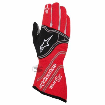 Alpinestars Tech 1-Z Race Gloves in Red