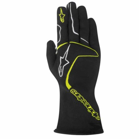 Alpinestars Tech 1 Race Gloves in Black & Yellow