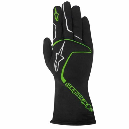 Alpinestars Tech 1 Race Gloves in Black & Green