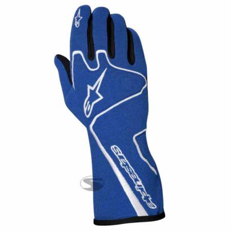 Alpinestars Tech 1 Race Gloves in Blue & White