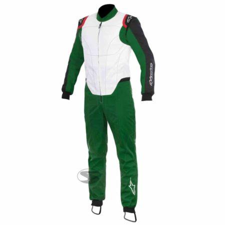 Alpinestars  KMX-1 Kart Suit in White & Green