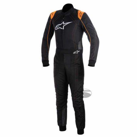 Alpinestars K-MX 9 Kart Suit in Black & Orange