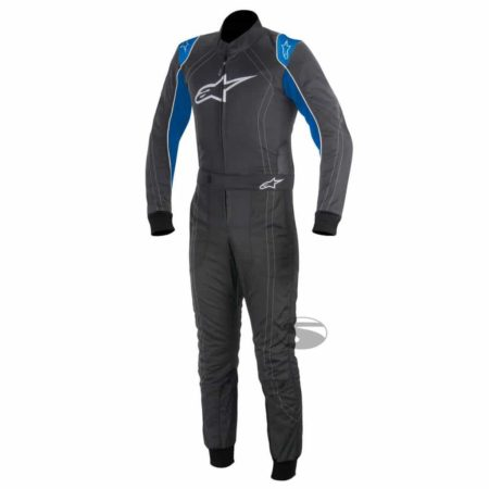 Alpinestars K-MX 9 Kart Suit in Anthracite & Blue