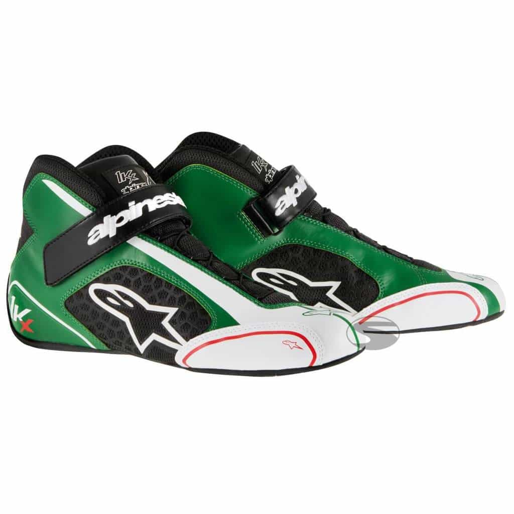 92c70514718 Alpinestars Tech 1-KX Kart Boots in Green   White - Available at ...
