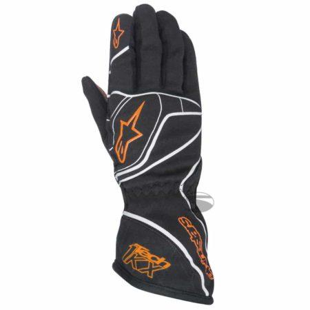 Alpinestars Tech 1-KX Kart Gloves in Black & Orange