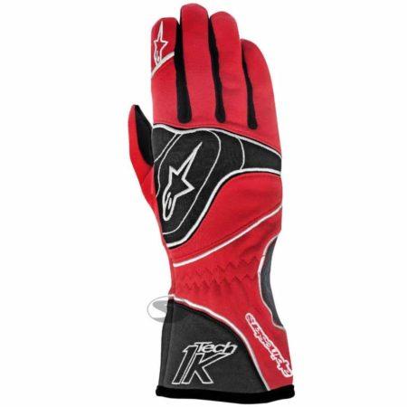 Alpinestars Tech 1-K Kart Gloves in Red