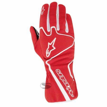 Alpinestars Tech 1-K Race Kart Gloves in Red & White
