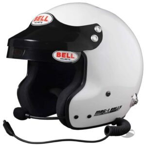 Bell Mag-1 Open Face Rally Helmet – Peltor Compatible Intercom System thumbnail
