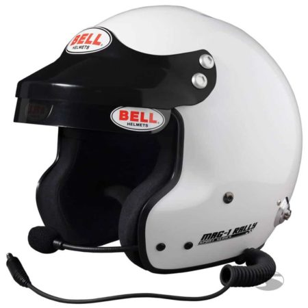 Bell Mag-1 Open Face Rally Helmet - Peltor Compatible Intercom System