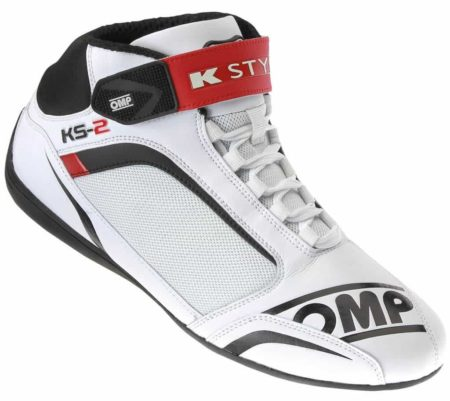OMP KS-2 Kart Boots in White