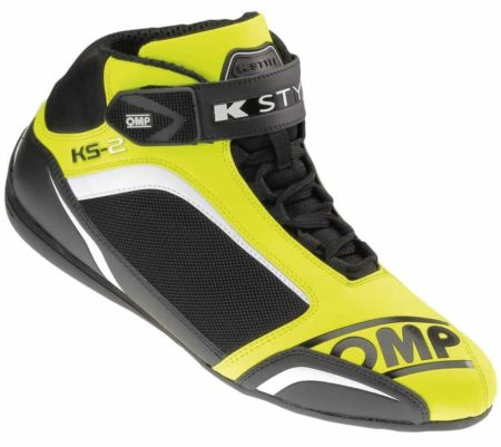 OMP KS-2 Kart Boots in Yellow & Black