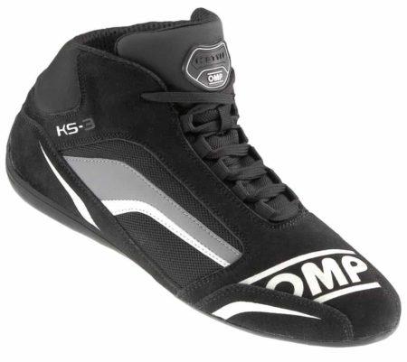 OMP KS-3 Kart Boots in Black & Grey