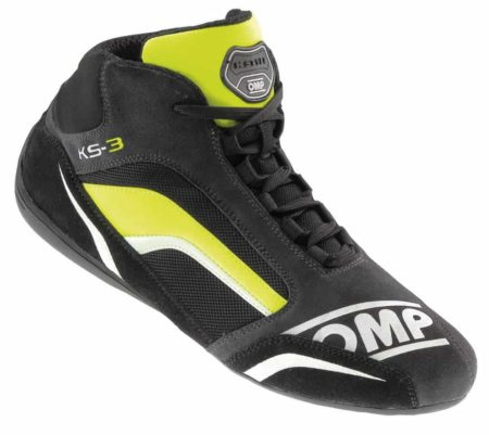 OMP KS-3 Kart Boots in Black & Yellow