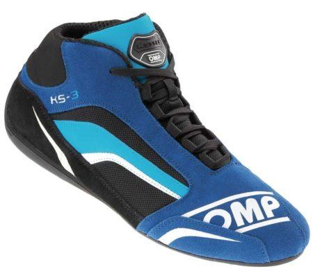 OMP KS-3 Kart Boots in Blue and Black
