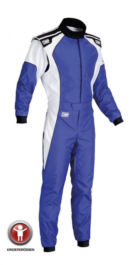 OMP KS-3 Kart Suit - Child Sizes in Blue & White