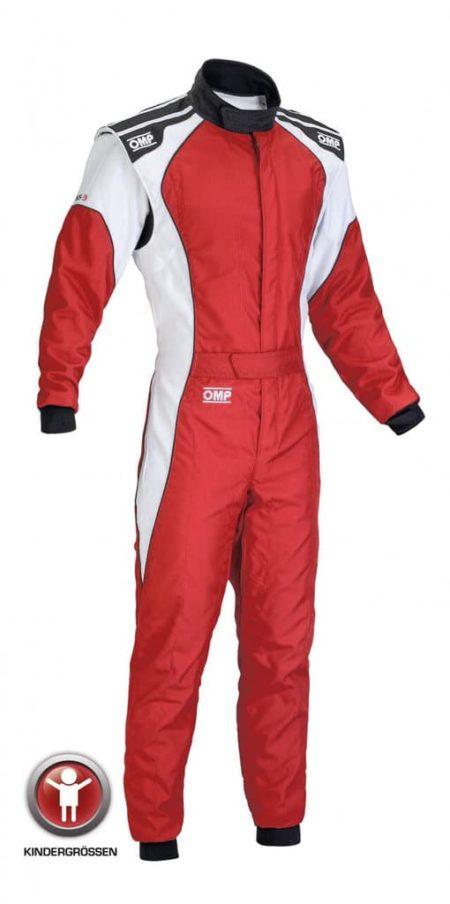 OMP KS-3 Kart Suit - Child Sizes in Red & White
