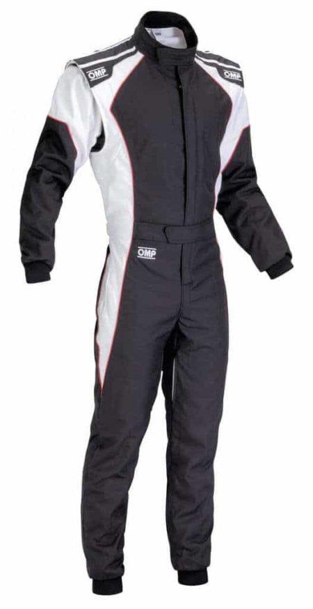 OMP KS-3 Kart Suit in Black & White