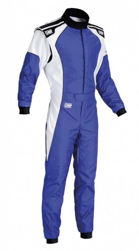 OMP KS-3 Kart Suit in Blue & White