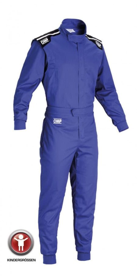 OMP Summer-K Kart Suit Child Sizes in Blue