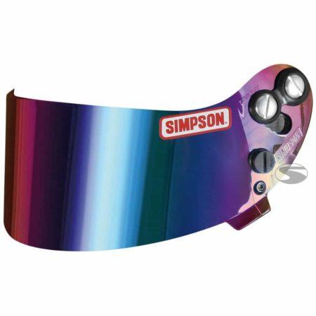 Replamcement Rainbow Mirrored Visor for Simpson Devil Ray