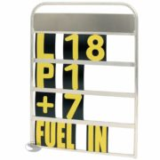 Standard 4 Row Pit Board with Numbers and Storage