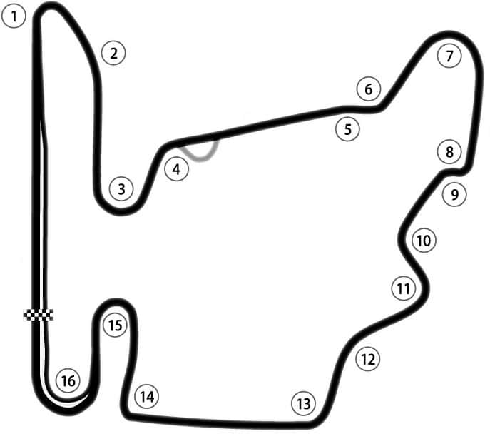 Hungaroring Track Map