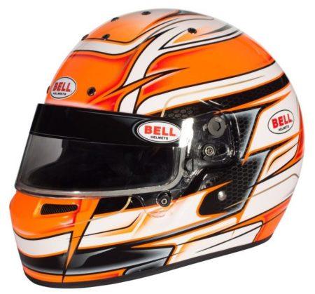 Bell KC7 Venom Orange Helmet