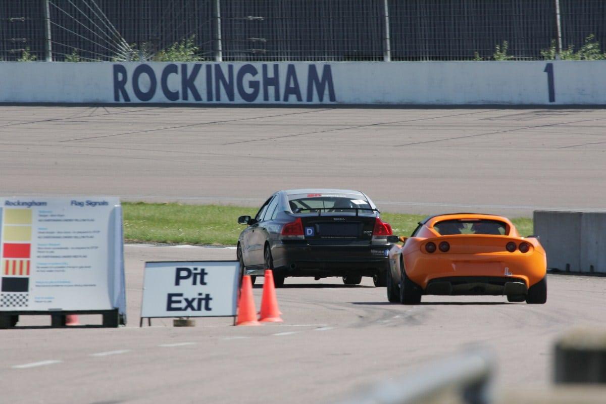 pit lane exit at Rockingham