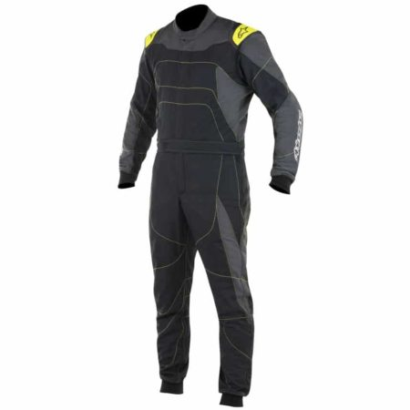Alpinestars GP Race Suit-Anthracite / Black / Fluro Yellow