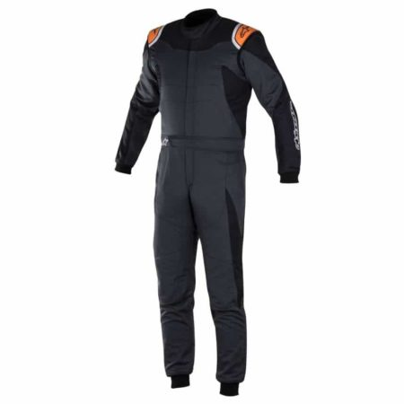 Alpinestars GP Race Suit-Anthracite / Black / Fluro Orange